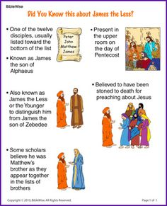 Did You Know this about James the Less (Story) - Kids Korner - BibleWise