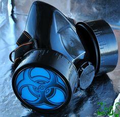 Black Cyber Mask Cyber Goth Respirator Gas Mask  by olnat31sun, $19.99