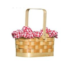 Little Red Riding Hood Gingham Basket Basket: Amazon.co.uk: Toys  Games
