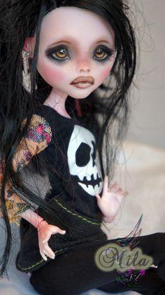NEW Ooak Monster High Draculaura Custom Repaint BY Rogue Lively | eBay