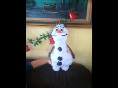 Olaf Pinata Summer Birthday, Birthday Parties, Olaf Pinata, Olaf Summer, How To Make Pinata, Build A Snowman, Frozen, Guy, Christmas Ornaments