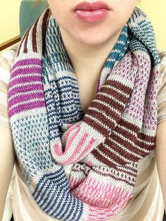 Project Gallery for Sur pattern by Breean Elyse Miller. malabrigo Silkpaca in: Pearl, Hollyhock, Teal Feather, Light of Love and Azul profundo colorways.