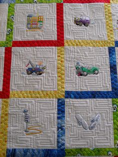 Car Embroidery by Jessica's Quilting Studio, via Flickr