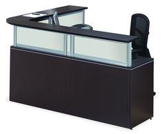 Office Source Borders II Series L-Shape Receptionist Desk