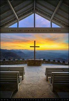 """I will lift up mine eyes unto the hills"" Standing Stone Mountain - SC - Camp Greenville, Fred Symmes Chapel (aka Pretty Place)"