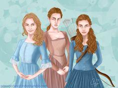 Elain, Nesta and Feyre