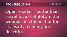Daily Bible Verse Proverbs 27:5-6