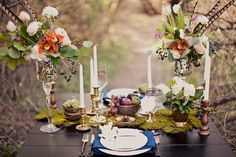 eclectic woodland wedding