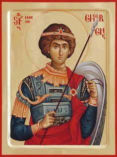 foto van N Theologhia Baba. Religious Images, Religious Icons, Religious Art, Byzantine Icons, Byzantine Art, Religious Paintings, Saint George, Orthodox Icons, Christian Art