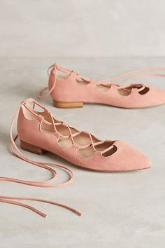 Billy Ella Lace-Up Flats - anthropologie.com #anthroregistry