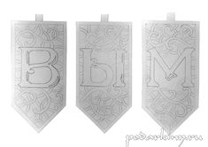 Трафареты для вырезания ажурных букв