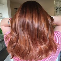 Wavy Mid-Length Hair with Pumpkin Spice Coloring