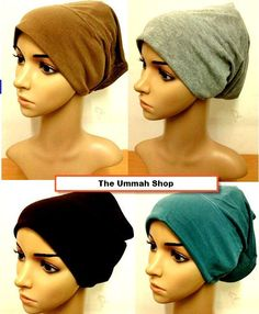 its open in back allows u to tuck in or leave open for air flow. I wear them to bed keeps hair from getting bed head.awesome for windy days bad hair days.or to wear under ur helmets. Bad Hair, Muslim, Your Hair, Shawl, Cap, Bed Head, Fashion Outfits, Helmets, Scarfs