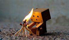 Cute Little Cardboard Robot Photos
