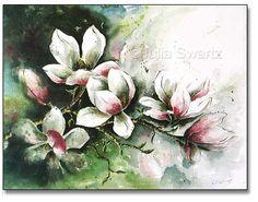 Magnolia Watercolor Painting