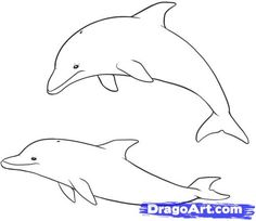"""Step Learn How to Draw Dolphins FREE Step-by-Step Online Drawing Tutorials, Sea animals, Animals free step-by-step drawing tutorial will teach you in easy-to-draw-steps how to draw """"How to Draw Dolphins"""" online. Dolphin Drawing, Dolphin Art, Sea Animals Drawings, Creature Drawings, Online Drawing, Fish Art, Beach Art, Sea Creatures, Easy Drawings"""