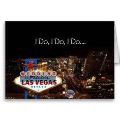 I Do Wedding In Fabulous Las Vegas Card