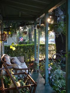 Rustic porch (with bike)