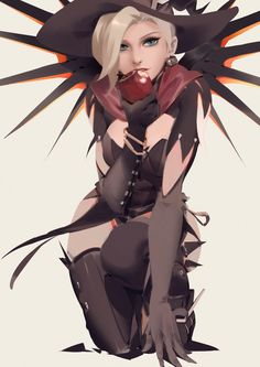 This is it, one the best witch mercy drawing