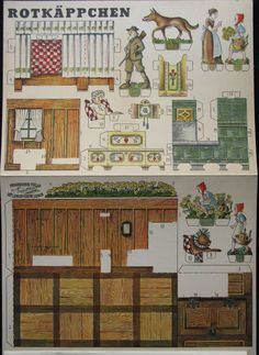 paper doll house 4 Paper Doll House, Paper Houses, Paper Toys, Paper Crafts, Diy Crafts, Victorian Paper Dolls, Altered Book Art, Dollhouse Furniture, Dollhouse Ideas