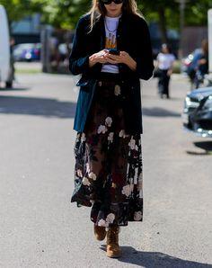 Eine schiere Maxi-Rock mit einem langen Blazer  #kleid #kleider #sommerkleider #herbstkleider #unterkleid #holen #dress #aktuelle #sommer #herbst