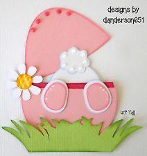 Easter Die Cuts Bunny Paper Piecing PreMade Border Scrapbook Album danderson651