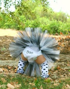 Halloween Ghost Costume Tutu set Halloween by JosieRosieBoutique, $55.50