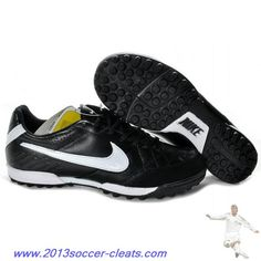 2013 Mens Nike Tiempo Natural IV TF Turf in Black White For Wholesale  Botas 34b0d9b0b82e6