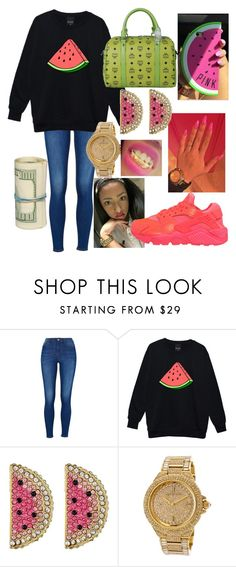 """love watermelon"" by kcameron3445 ❤ liked on Polyvore featuring MCM, Betsey Johnson, Michael Kors and NIKE"