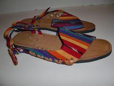 Custom Made Southwestern Western Falsa Sandals Straps Women's Size 38 7 5 7 1 2 | eBay