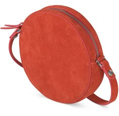Belle Circle Suede Leather Cross Body Bag