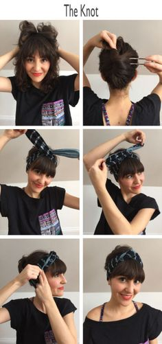 La Selva's Twisted Headband Tutorial - If you're hair is out of control, don't panic! Try pulling you're hair back in a bun, ponytail, or, our favorite, a classic french twist. Then wrap the Twisted Headband around your head. Give the headband a good twist. The wire inside will keep it in place. Tuck both ends in to leave a pretty knot on top. #twistedheadband #hair #tutorial