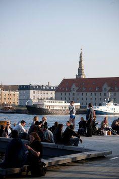 Tourists in Copenhagen, Denmark.