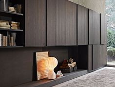 LUV Living a Unique Vision // Mueble comedor TV moderno lacado - PASS by Nicola Gallizia - Molteni & C