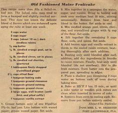 Vintage Christmas Fruitcake Recipes Old Fashioned Maine Fruitcake