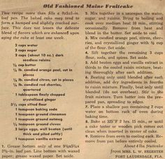 Vintage Christmas Fruitcake Recipes Old Fashioned Maine Fruitcake