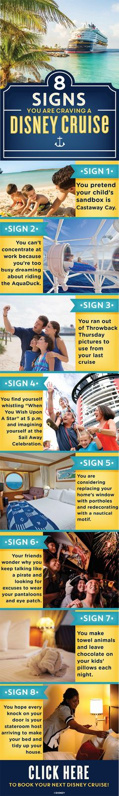 Think it's time for another Disney Cruise? Check out these eight signs you might be craving one.