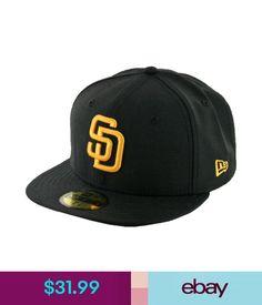 Hats Era 59Fifty San Diego Padres Fitted Hat (Black/Gold) Men's Custom Mlb Cap #ebay #Fashion