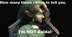 Allow me to introduce Link, Hero of Time, who is NOT Princess Zelda....