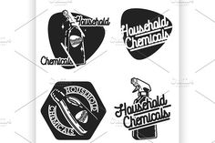 household chemicals emblems by Netkoff on @creativemarket