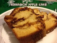 """✿ Cinnamon Apple Cake ✿ Ingredients... 1/2 c sugar 1/2 c softened butter 2 eggs 1 1/2 c flour 1 1/2 t vanilla extract 1 3/4 t baking powder 1/2 c skim milk 1 apple, peeled and chopped 1/4 c brown sugar (not packed) 1 t cinnamon Directions... Preheat oven to 350 degrees F. Grease and flour a 5""""x 9"""" loaf pan. Bowl #1: In a bowl, mix cinnamon and brown sugar... Set aside. Bowl #2: Using an electric mixer, beat sugar and butter till smooth. Add eggs one at a time... Blend well... Beat in va..."""