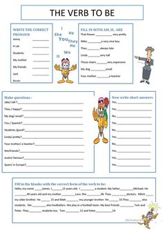 Awesome Verb Be Worksheets that you must know, Youre in good company if you?re looking for Verb Be Worksheets English Grammar For Kids, Teaching English Grammar, English Grammar Worksheets, Verb Worksheets, English Verbs, Grammar Lessons, English Vocabulary, Printable Worksheets, Teaching Spanish