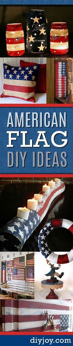 American Flag Inspired DIY Projects to Show Your Patriotic Side Amerikanische Flagge inspirierte DIY Patriotic Crafts, July Crafts, Summer Crafts, Holiday Crafts, Holiday Fun, Americana Crafts, Patriotic Room, Holiday Ideas, Patriotic Party