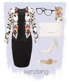 """""""Florals w White"""" by kenzieing on Polyvore featuring Topshop, LE3NO, Off-White, Style & Co., Bulgari and Rifle Paper Co"""