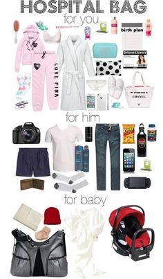 Hospital bag photo list!