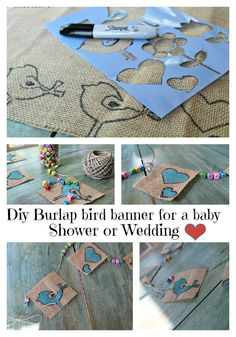 diy #burlap bird banner for a baby/wedding shower or just because, it's pretty versatile.
