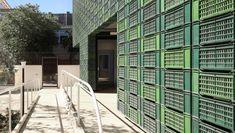 Protiro, Studio NOWA, Concetta D'Alessandro Foundation, rehabilitation, Italy, disabilities, reused plastic, recycled plastic, green architecture, nonprofit, staircase