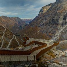 This movie by videographer Alejandro Villanueva tours the Reiulf Ramstad-designed Trollstigen Visitor Centre in rural Norway