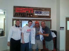 Chef Jim with the crew at WKNR 850am in May 2014.