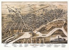 Historic Map of Brantford Ontario 1875 Poster